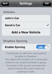 find my car app screenshot