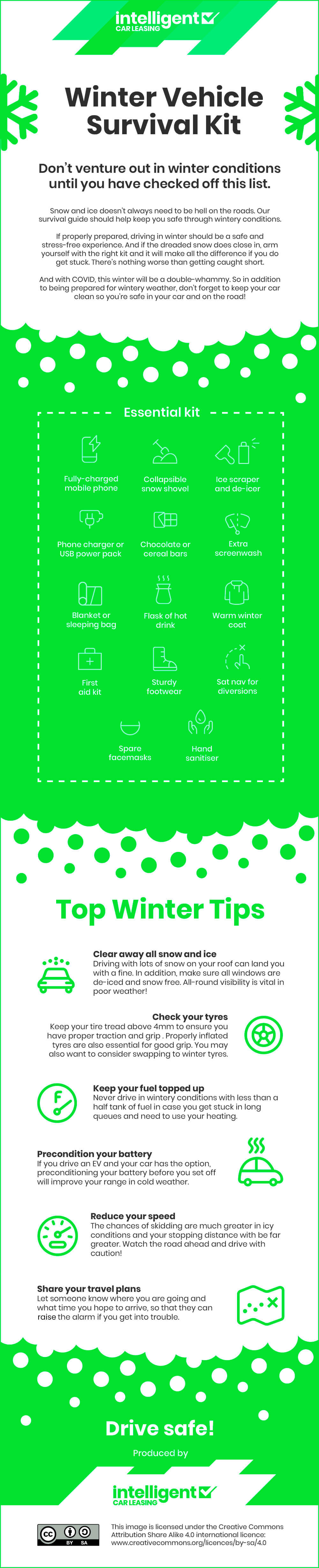 The Ultimate Winter Driving Survival Kit - Infographic