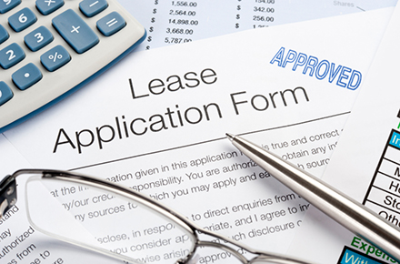 Car lease application form approved